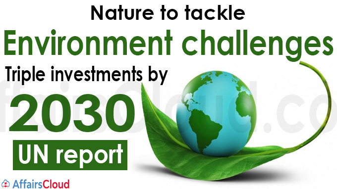 Nature to tackle environment challenges