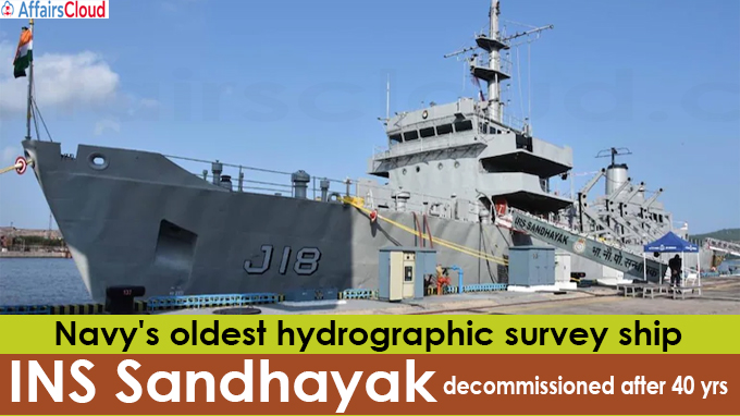 Navy's oldest hydrographic survey ship INS Sandhayak decommissioned after 40 yrs