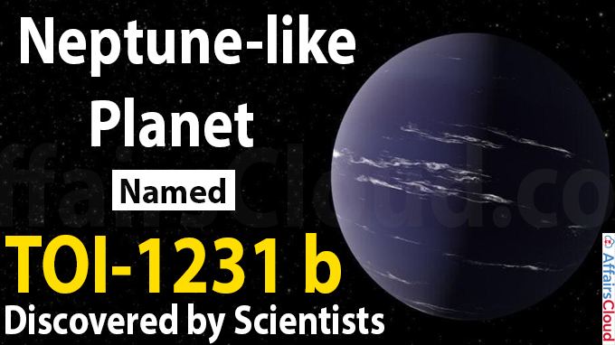 Neptune-like planet, named TOI-1231 b