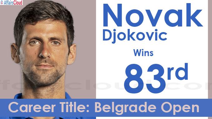Novak Djokovic Wins 83rd