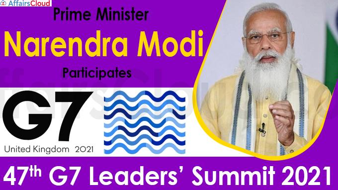 Prime Minister Narendra Modi participates 47th G7 Leaders' Summit 2021