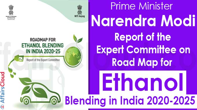 Road Map for ethanol blending in India 2020-2025
