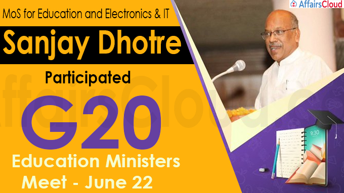 Sanjay Dhotre participated G20 Education Ministers Meet