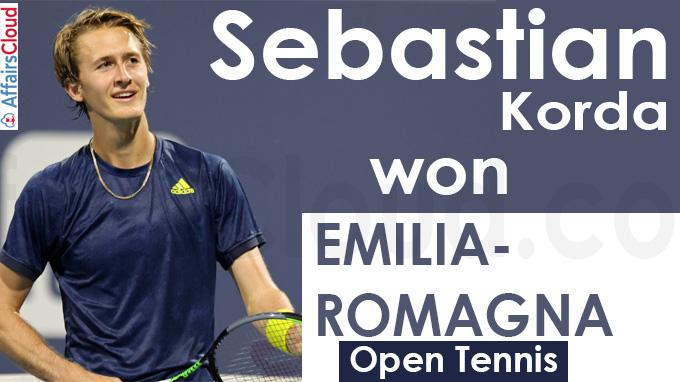 Sebastian Korda wins Emilia-Romagna Open tennis