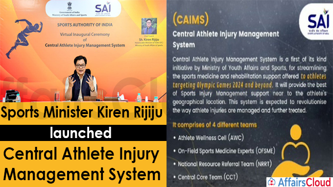 Sports Minister launches Central Athlete Injury Management System