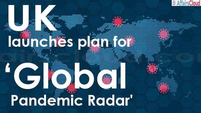 UK launches plan for 'Global Pandemic Radar'