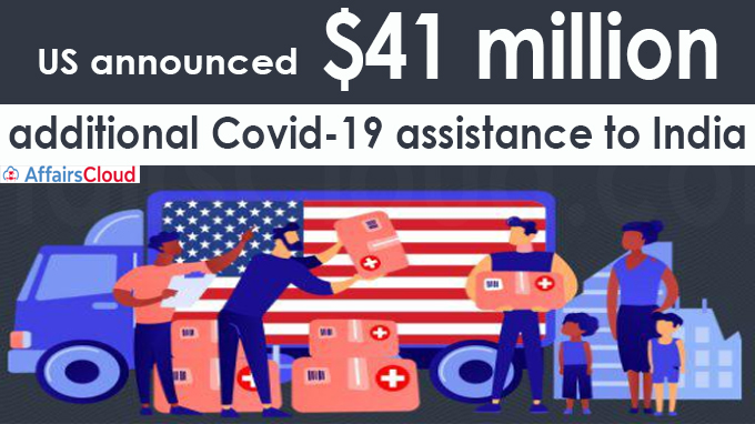 US announces $41 million additional Covid-19 assistance to India