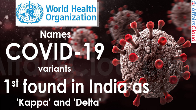 WHO names COVID-19 variants 1st found in India as Kappa and Delta