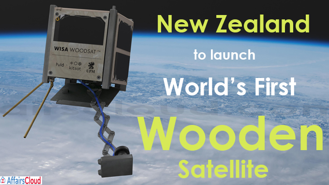 Zealand to launch World's First Wooden Satellite