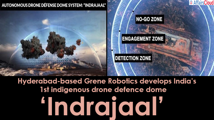 1st indigenous drone defence dome