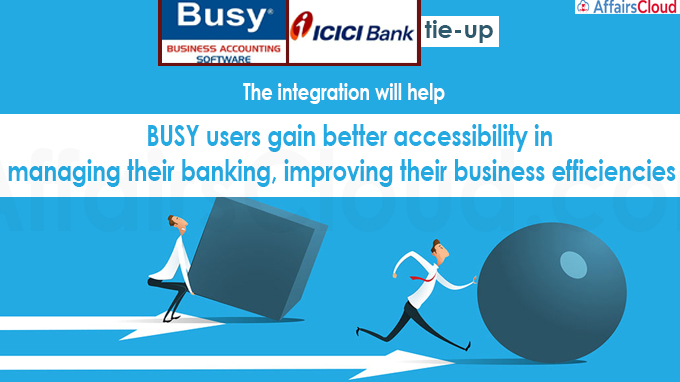 BUSY Accounting Software, ICICI Bank tie-up