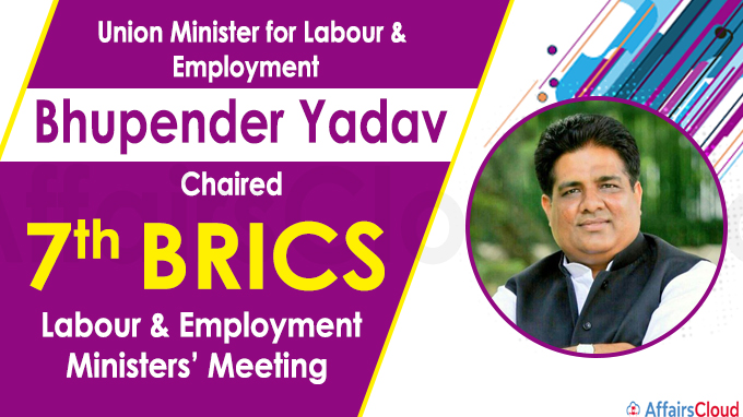 Bhupender Yadav chairs 7th BRICS Labour & Employment Ministers' Meeting