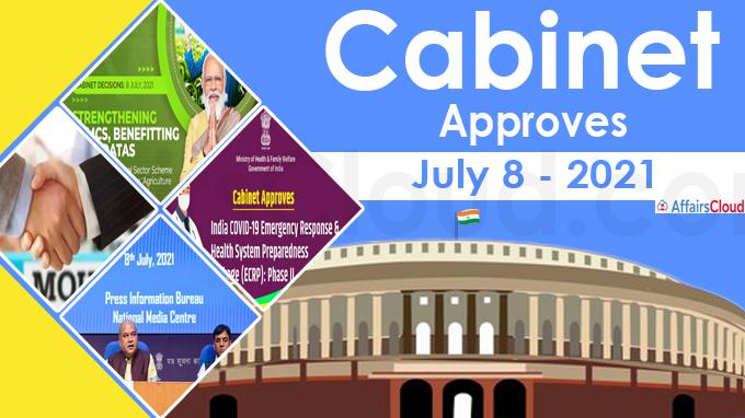 Cabinet Approval on July 8 2021