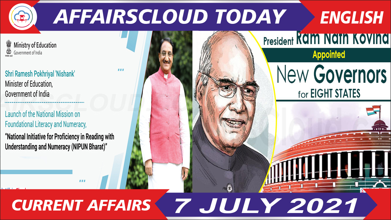 Current Affairs 7 July 2021 english