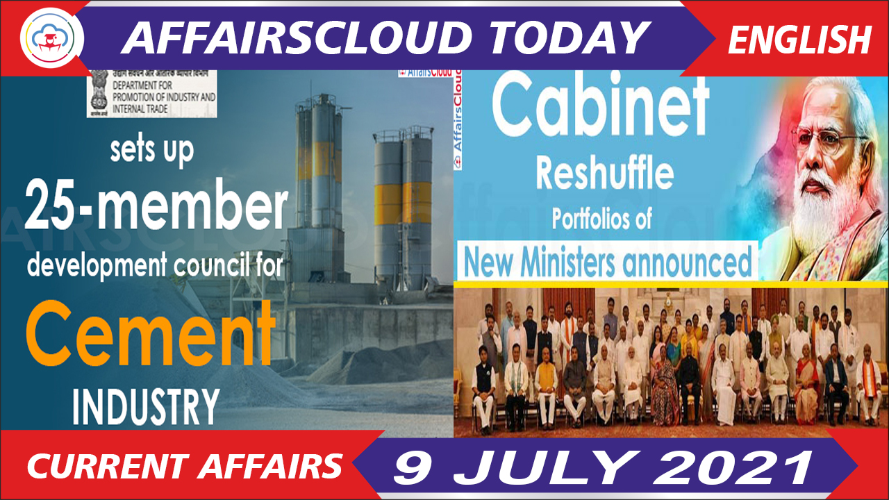 Current Affairs 9 July 2021 english