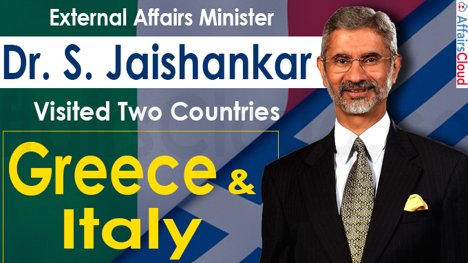 EAM Jaishankar visited two countries Greece and Italy