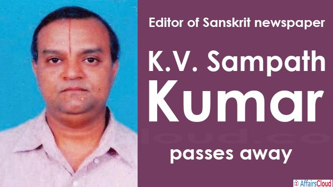 Editor of Sanskrit newspaper