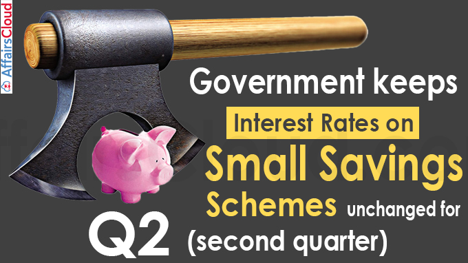 Government keeps interest rates on small savings schemes