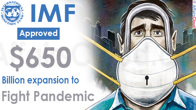 IMF approves $650 billion expansion to fight pandemic