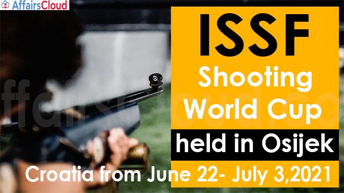 ISSF Shooting World Cup held in Osijek