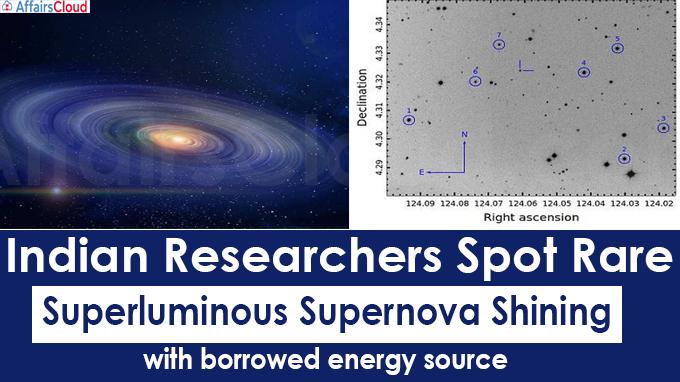 Indian researchers spot rare superluminous supernova shining