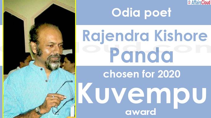 Odia poet Rajendra Kishore Panda chosen for 2020 Kuvempu award