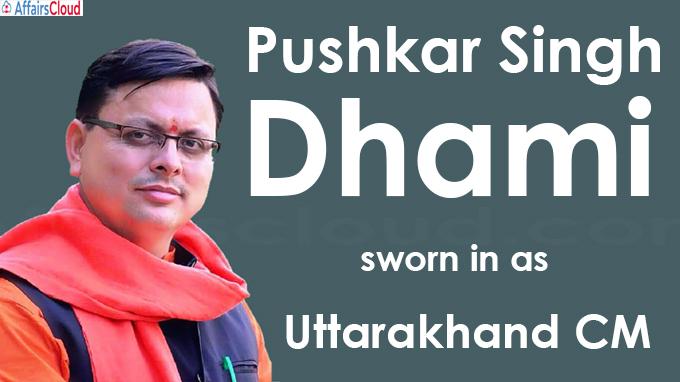 Pushkar Singh Dhami sworn in as new Uttarakhand