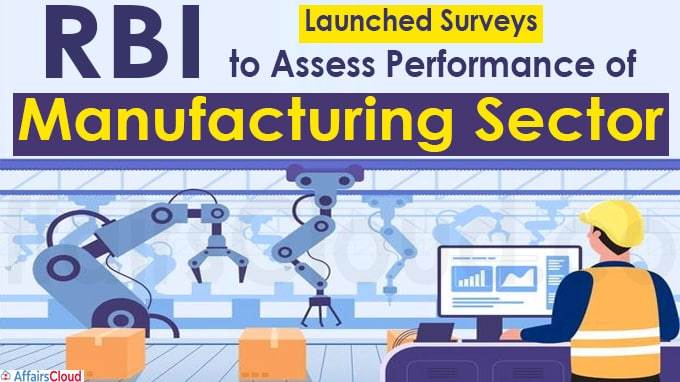 RBI Launches Surveys to Assess Performance of Manufacturing Sector