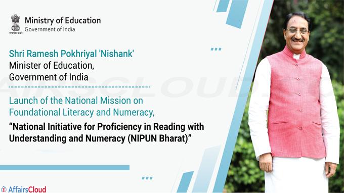 Union Education Minister launches NIPUN Bharat Programme
