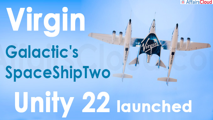 Virgin Galactic's SpaceShipTwo Unity 22 launched