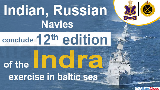 indian, russian navies conclude 12th edition of the indra exercise