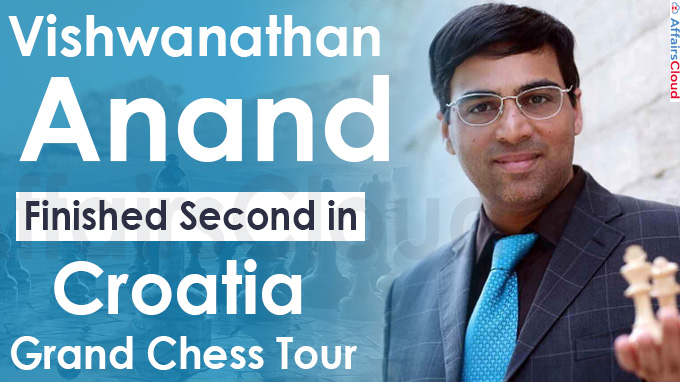 vishwanathan anand finishes second in croatia grand chess tour