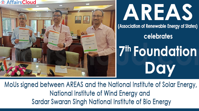 Association of Renewable Energy of States celebrates 7th Foundation Day