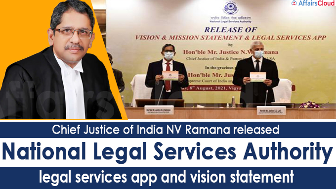 CJI National Legal Services Authority legal services app and vision statement