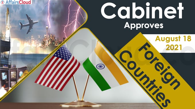 Cabinet Approvals with Foreign countries on August 18, 2021