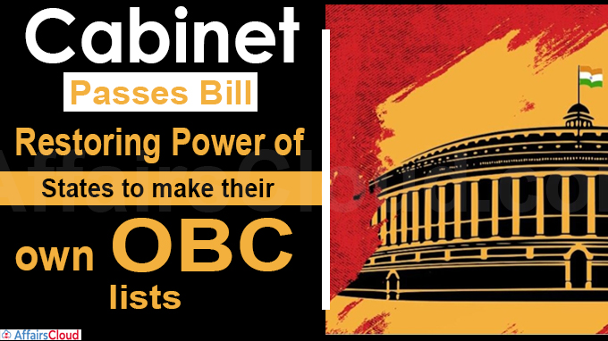 Cabinet passes Bill restoring power of states
