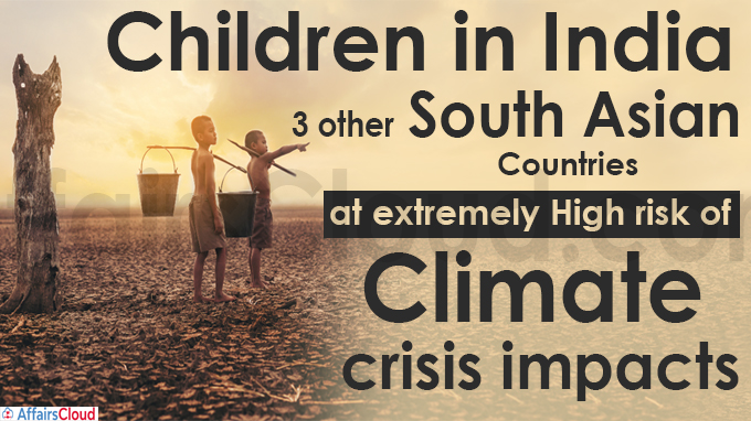 Children in India, 3 other S Asian nations at extremely high risk