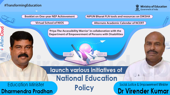 Education Minister launch various initiatives of National Education Policy