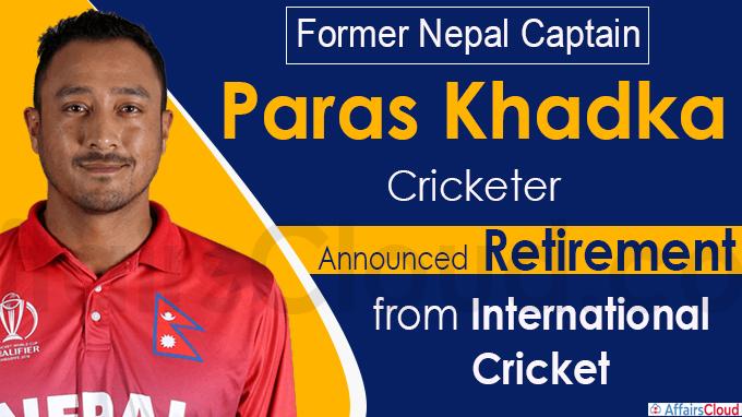 Former Nepal captain Paras Khadka announces retirement