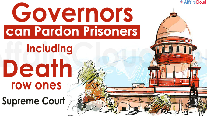 Governors can pardon prisoners, including death row ones