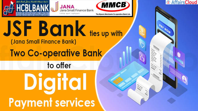 JSF Bank ties up with two co-op banks to offer digital, payment services