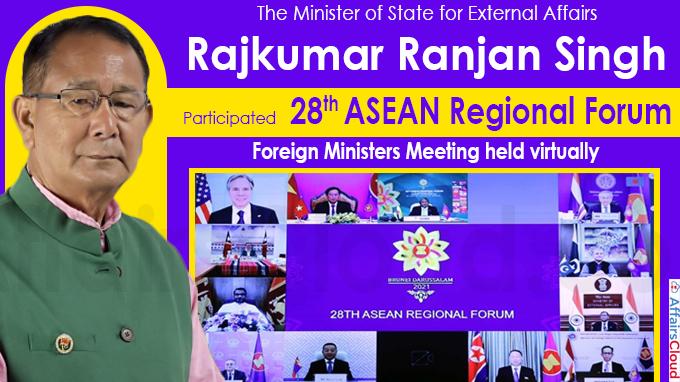 Rajkumar Ranjan Singh participated 28th ASEAN Regional Forum