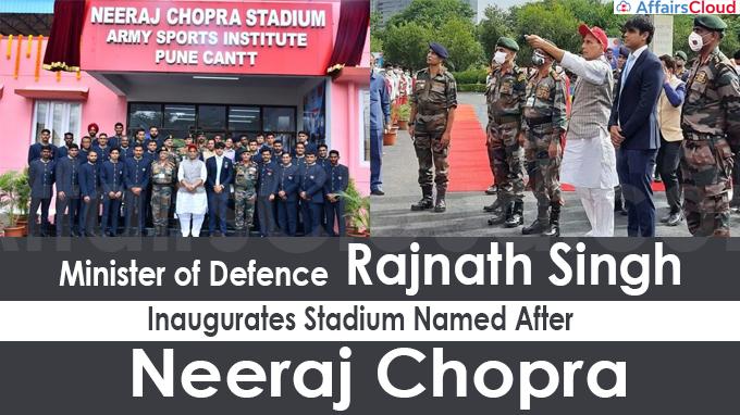 Rajnath Singh Inaugurates Stadium Named After Neeraj Chopra
