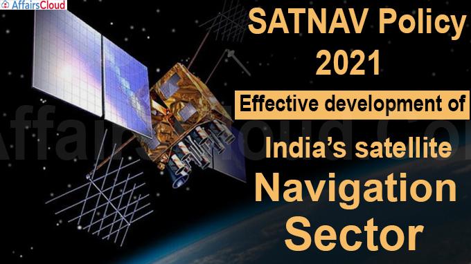 SATNAV Policy – 2021