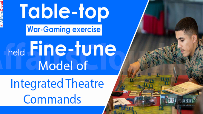 Table-top war-gaming exercise held to fine-tune model of integrated theatre commands