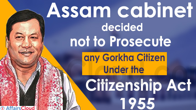 The Assam cabinet on Wednesday decided not to prosecute