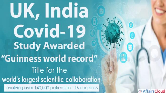 UK, India Covid-19 study awarded Guinness world record