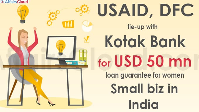 USAID, DFC tie-up with Kotak Bank for USD 50 mn loan