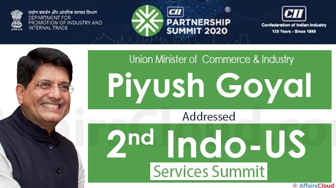 Union Minister Piyush Goyal addressed 2nd Indo-US Services Summit new