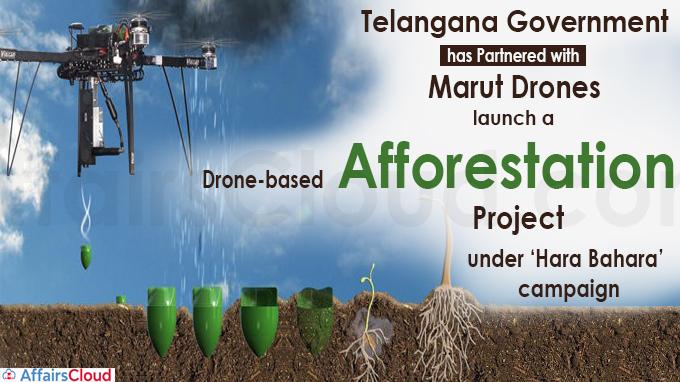 drone-based afforestation under 'Hara Bahara' campaign